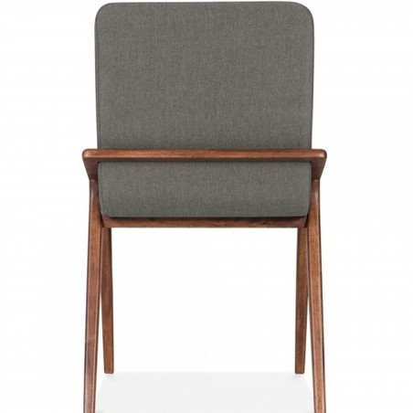 Viborg Wooden Upholstered Dining Chair Cool Grey  Rear View