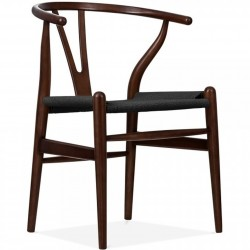 Skive Danish Design Wooden Armchair Brown/Black Weave