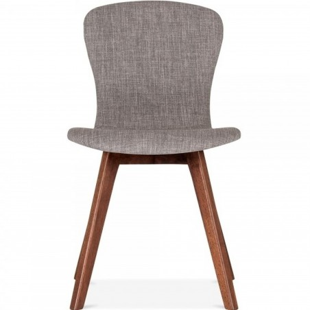 Sydney Fabric Upholstered Dining Chair -  Cool Grey Front View