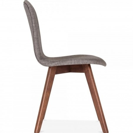 Sydney Fabric Upholstered Dining Chair -  Cool Grey Side View