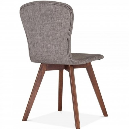 Sydney Fabric Upholstered Dining Chair -  Cool Grey Angled Rear View