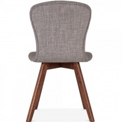 Sydney Fabric Upholstered Dining Chair -  Cool Grey  Rear View