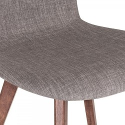 Sydney Fabric Upholstered Dining Chair -  Cool Grey Seat Detail