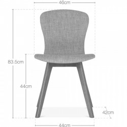 Sydney Fabric Upholstered Dining Chair -  Dimensions