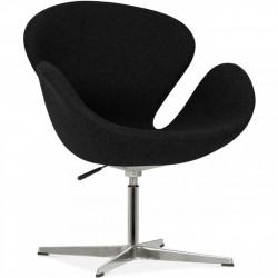 Swan Lounge Chair - Black/ Aluminium