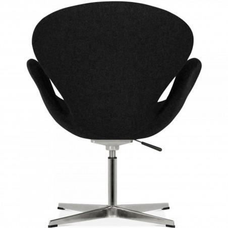 Swan Lounge Chair - Black/ Aluminium  Rear View