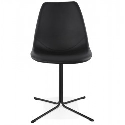 Comida Dining Chair Black Front View