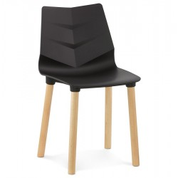 Silla Dining Chair Black Front View