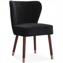 Regatta Velvet Lounge Chair - Black