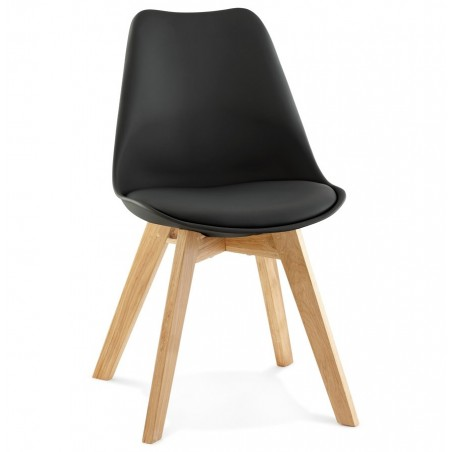 Vaskos Dining Chair Black Angle