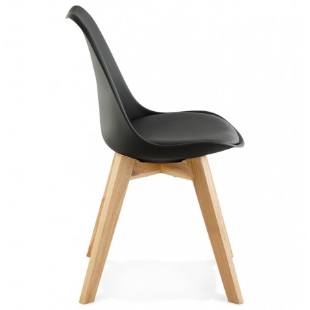 Vaskos Dining Chair Black Side