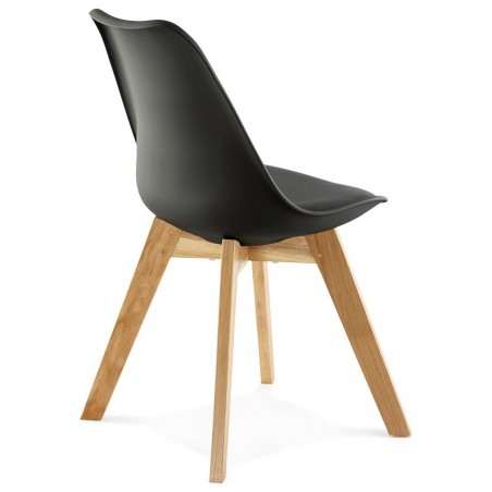 Vaskos Dining Chair Black Back Angle