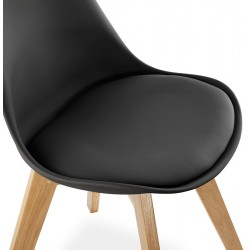 Vaskos Dining Chair Black Seat