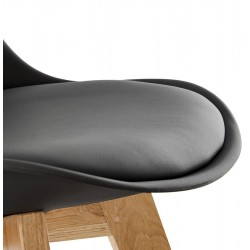 Vaskos Dining Chair Black Seat Detail