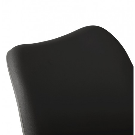 Vaskos Dining Chair Black Backseat