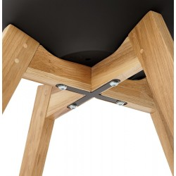 Vaskos Dining Chair Black Underside