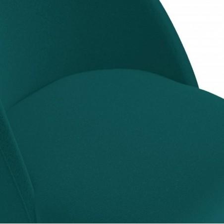 Calne Metal  Bar Stool - Teal Seat Detail