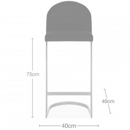 Calne Metal  Bar Stool 75cm Dimensions