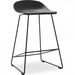 Java Plastic Bar Stool - Black 65cm