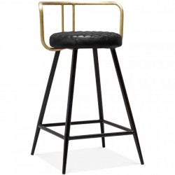 Cosimo Bar Stool, brass front angled view