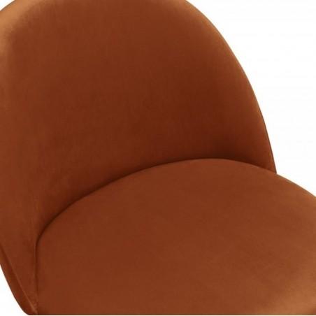 Hilo Velvet Dining Chair - Orange Seat Detail