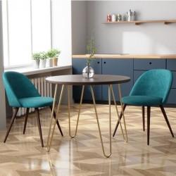 Hilo Velvet Upholstered Dining Chair - Mood Shot