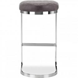 Calne Metal Bar Stool 75cm Grey/ Chrome Legs Rear View