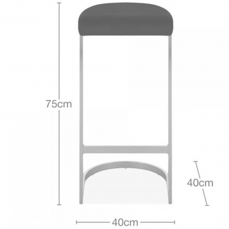 Calne Metal Bar Stool - 75cm Dimensions
