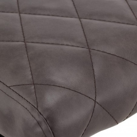 Calne Metal Bar Stool - Grey Seat Detail