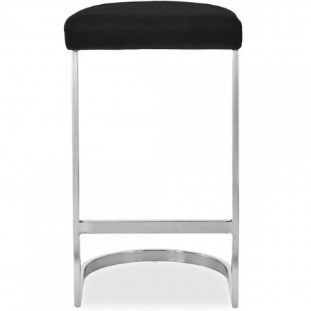 Calne Metal Barstool - Black/ Chrome Legs Front View