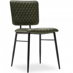 Alvin Faux Leather Dining Armchair - Green