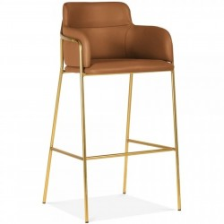 Esmond Faux Leather Upholstered Bar Stool