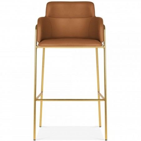 Esmond Faux Leather Upholstered Bar Stool Front View