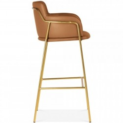 Esmond Faux Leather Upholstered Bar Stool Side View