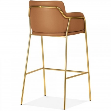 Esmond Faux Leather Upholstered Bar Stool Angled Rear View