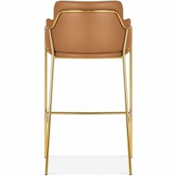 Esmond Faux Leather Upholstered Bar Stool Rear View