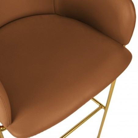 Esmond Faux Leather Upholstered Bar Stool Seat Detail