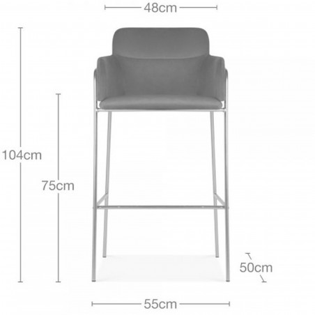 Esmond Faux Leather Upholstered Bar Stool Dimensions