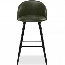 Idia Bar Stool - Green Black legs Front View
