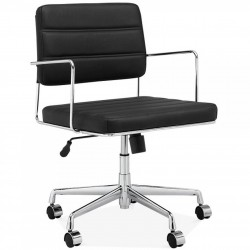 Akron  Office Chair Black Chrome Frame