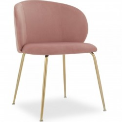 Nevada Dining Chair Pink / Brass Legs
