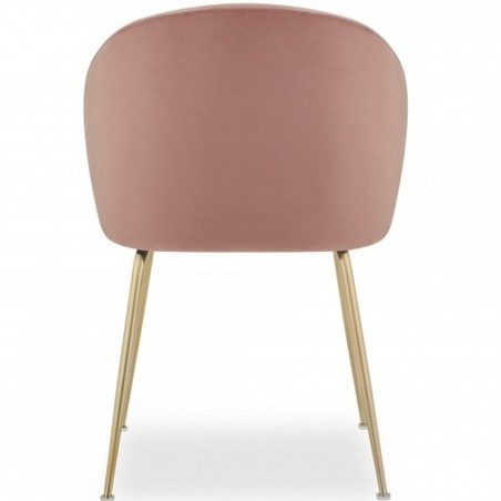 Nevada Dining Chair Pink / Brass Legs Rear View