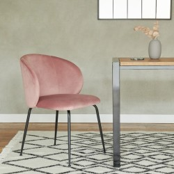Nevada Velvet Upholstered Dining Chair  - Mood Shot 1