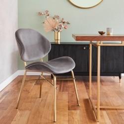 Allise Velvet Upholstered Dining Chair - Mood Shot 1