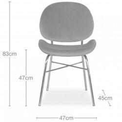 Allise Velvet Upholstered Dining Chair - Dimensions