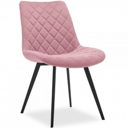 Ava Quilted Velvet Upholstered Dining Chair - Pink