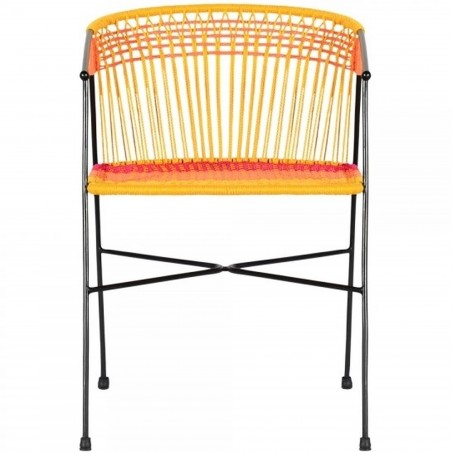 Costa  Garden Dining Chairs - Multicoloured  Front View