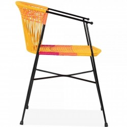 Costa  Garden Dining Chairs - Multicoloured Side View