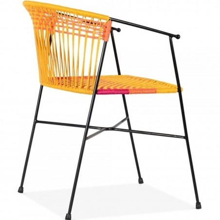 Costa  Garden Dining Chairs - Multicoloured Angled Rear View