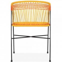 Costa  Garden Dining Chairs - Multicoloured Rear View